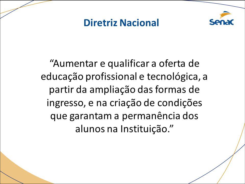 """""""Aumentar e qualificar a oferta de educação profissional e tecnológica, a partir da ampliação das formas de ingresso, e na criação de condições que ga"""