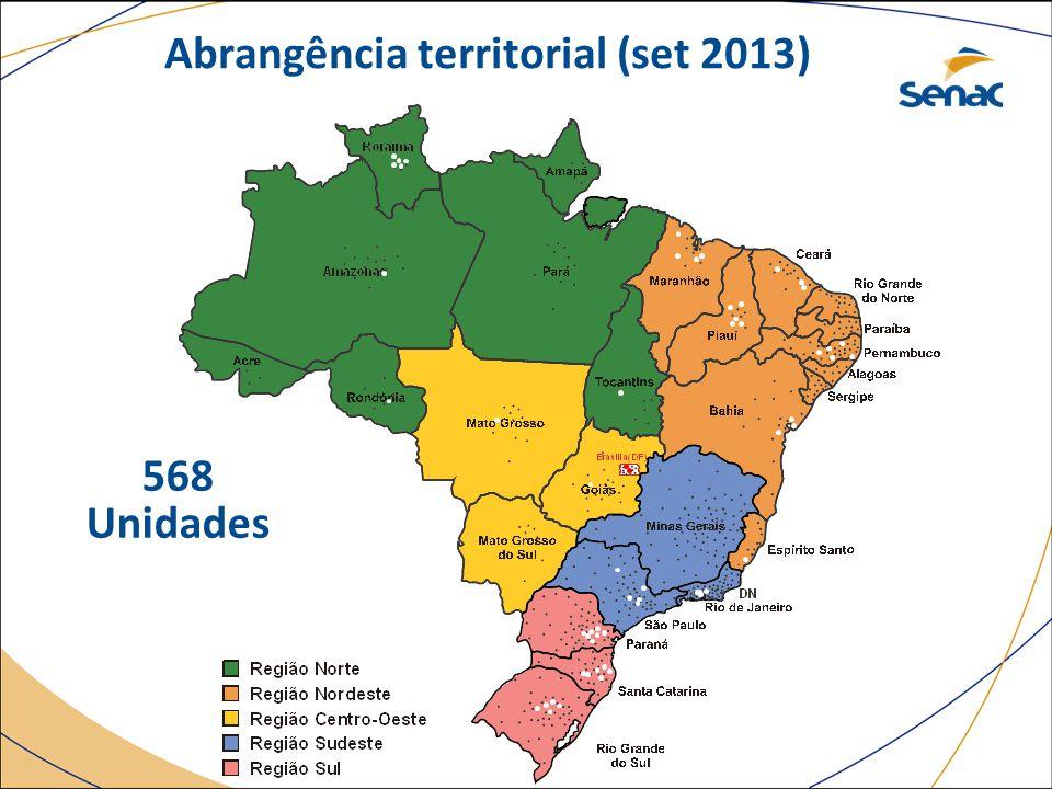 Abrangência territorial (set 2013) 568 Unidades