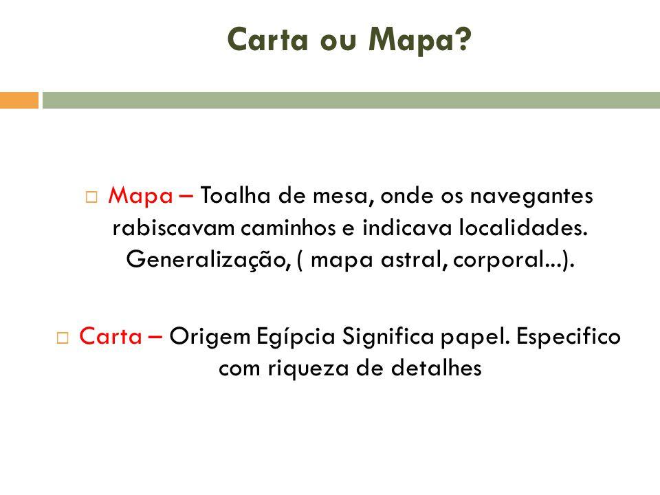 Carta ou Mapa.