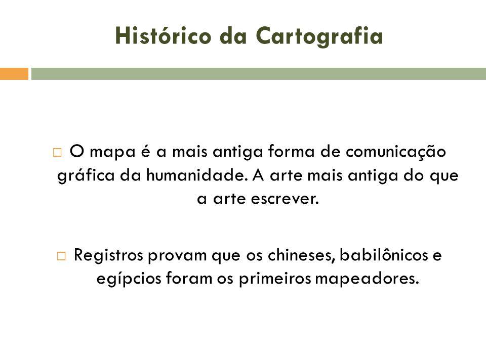 Histórico da Cartografia  O mapa é a mais antiga forma de comunicação gráfica da humanidade.