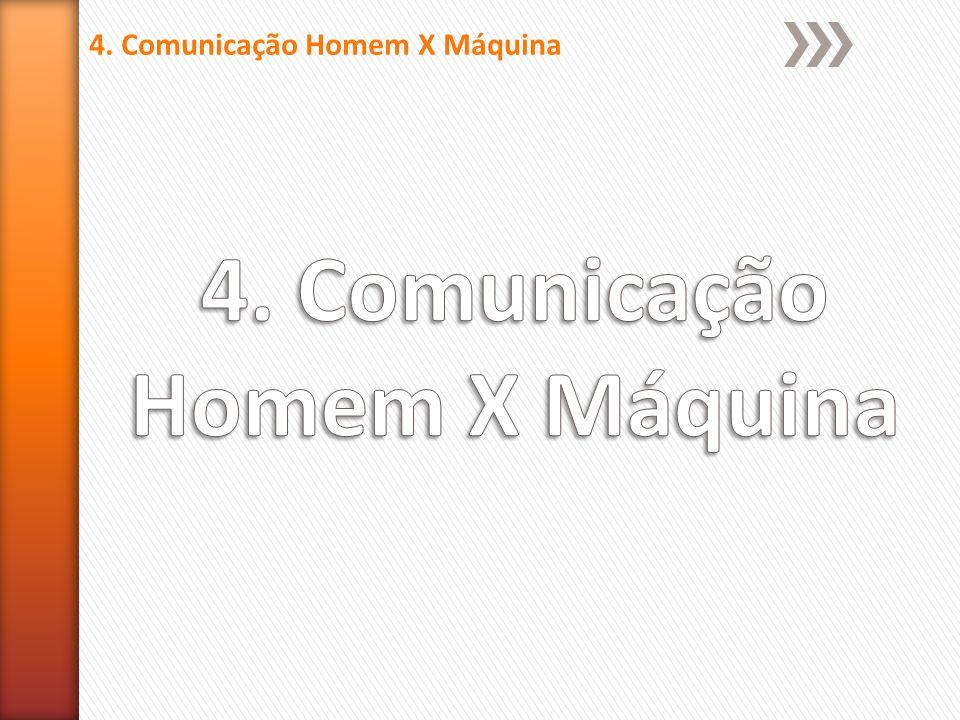4. Comunicação Homem X Máquina