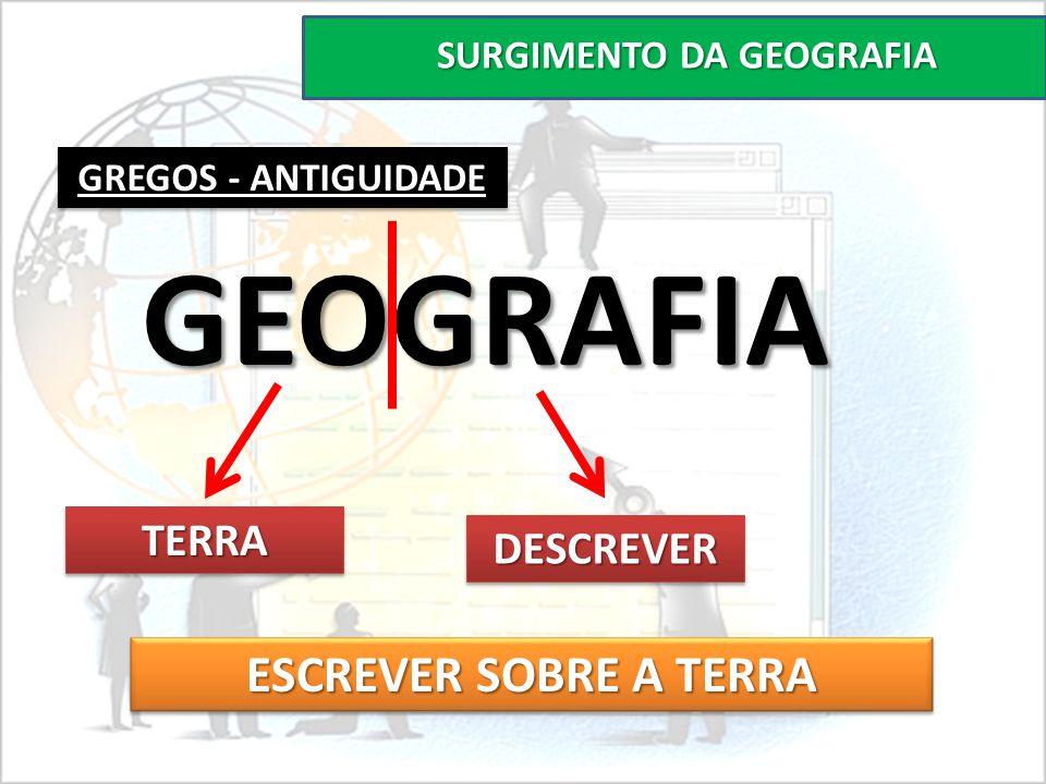 SURGIMENTO DA GEOGRAFIA GREGOS - ANTIGUIDADE GEOGRAFIA TERRATERRA DESCREVERDESCREVER ESCREVER SOBRE A TERRA