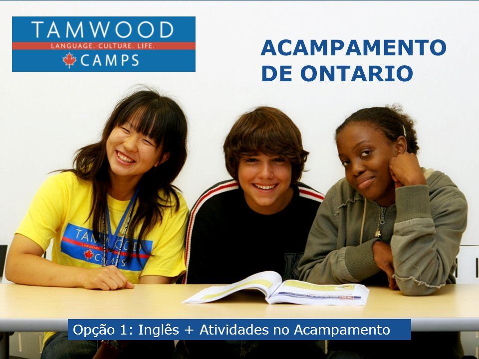 ACAMPAMENTO DE ONTARIO Opção 1: Inglês + Atividades no Acampamento