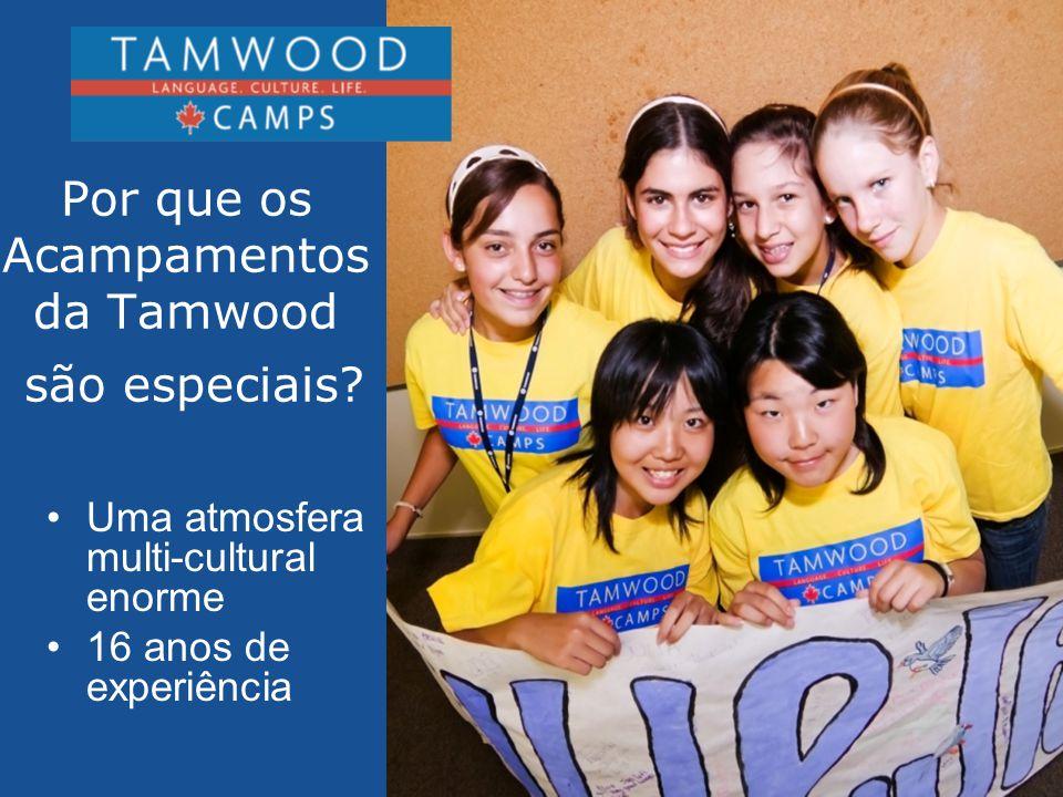 •Todos os funcionários da Tamwood possuem experiência de trabalho com crianças e adolescentes •Todos os funcionários têm experiência com Acampentos de Verão •Em todos os acampentos possuímos um funcionário que fala o idioma dos estudantes FUNCIONÁRIOS
