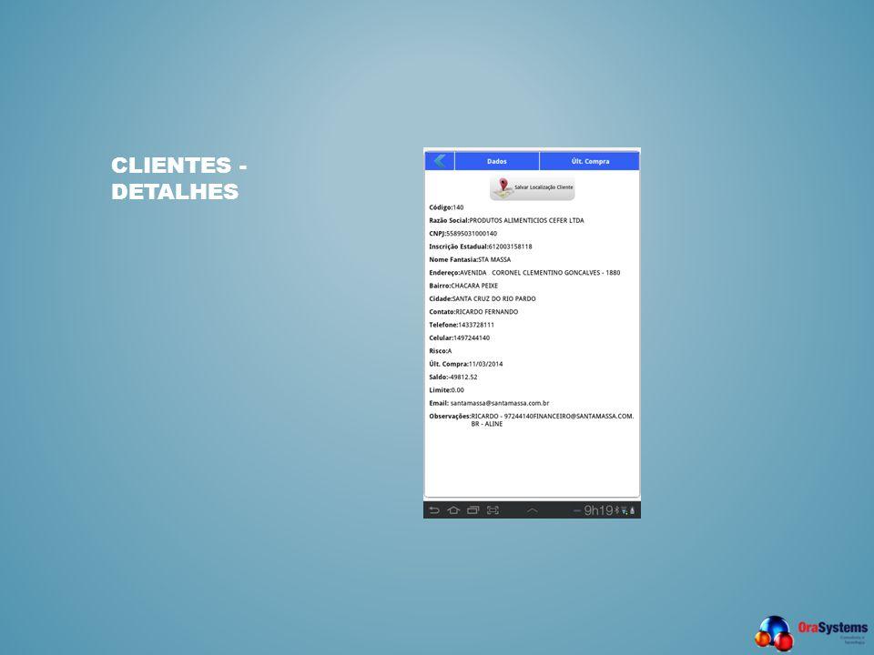 CLIENTES - DETALHES