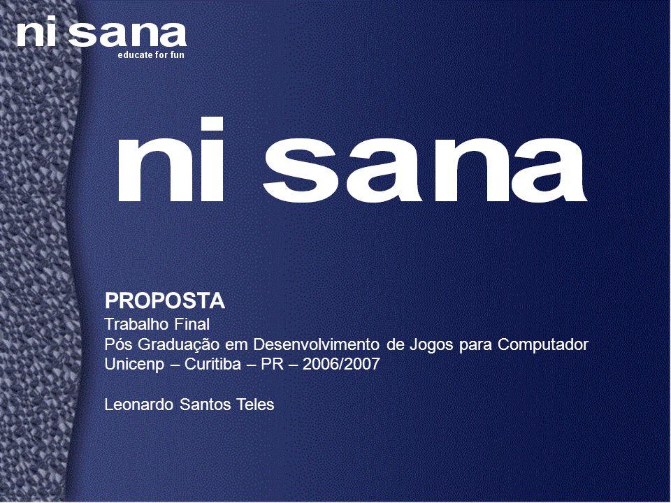 PROPOSTA Trabalho Final Pós Graduação em Desenvolvimento de Jogos para Computador Unicenp – Curitiba – PR – 2006/2007 Leonardo Santos Teles