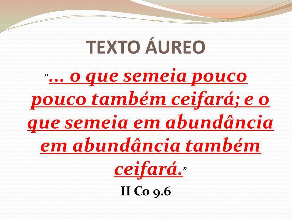 TEXTO ÁUREO ...