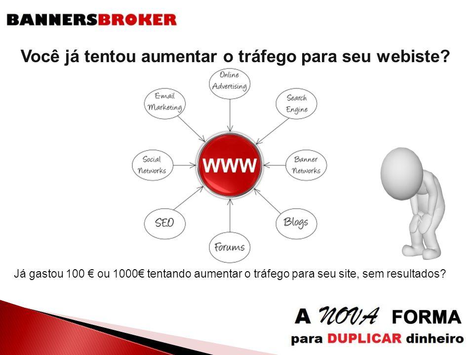 Você já tentou aumentar o tráfego para seu webiste? Já gastou 100 € ou 1000€ tentando aumentar o tráfego para seu site, sem resultados?