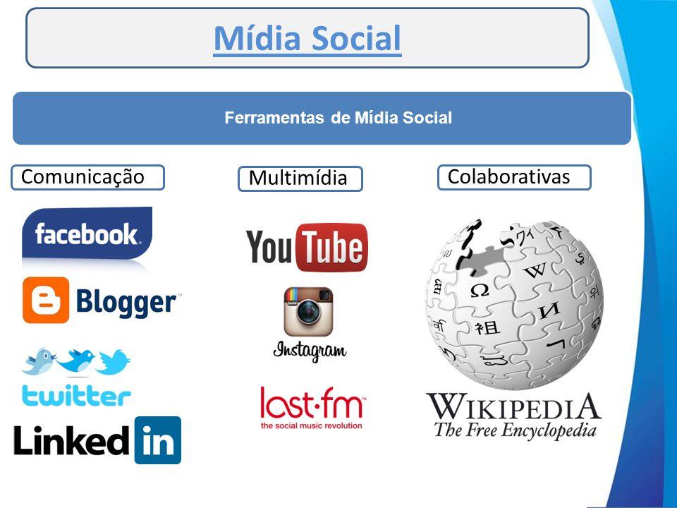Mídia Social Ferramentas de Mídia Social ComunicaçãoMultimídiaColaborativas
