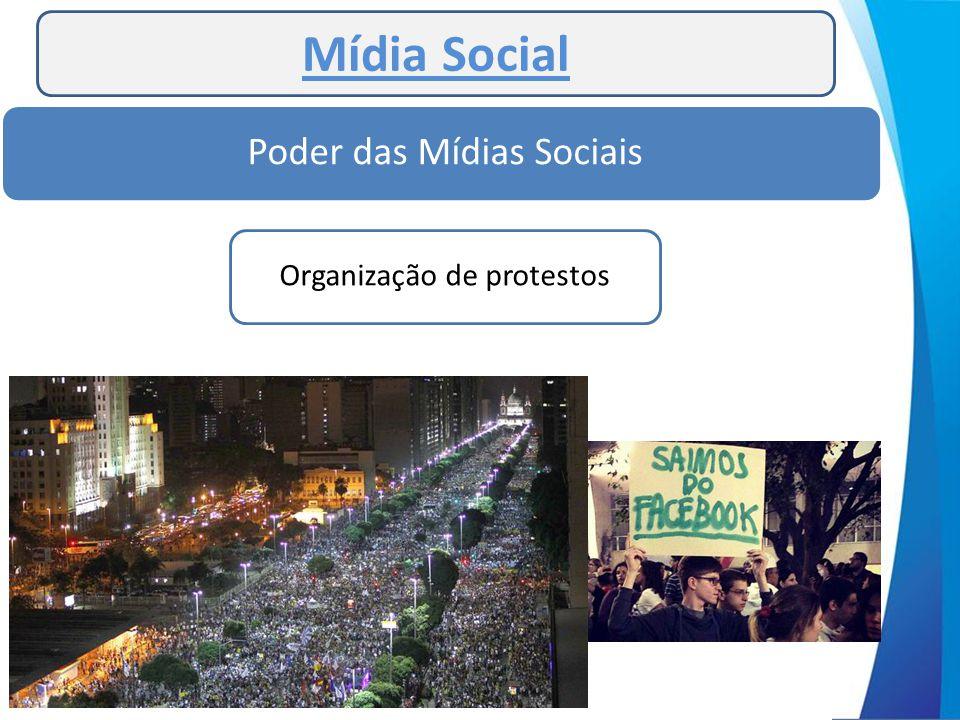 Mídia Social Poder das Mídias Sociais Organização de protestos