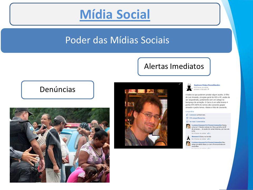 Mídia Social Poder das Mídias Sociais Alertas ImediatosDenúncias
