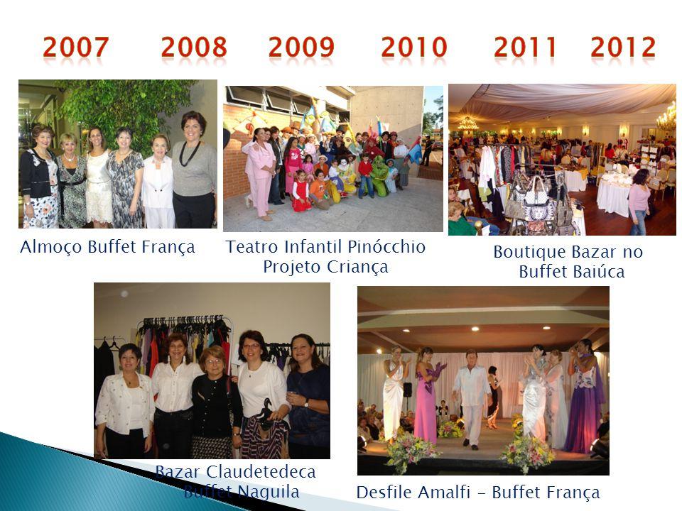 Almoço Buffet FrançaTeatro Infantil Pinócchio Projeto Criança Desfile Amalfi - Buffet França Bazar Claudetedeca Buffet Naguila Boutique Bazar no Buffe
