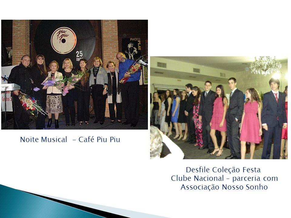 Noite Musical - Café Piu Piu Desfile Coleção Festa Clube Nacional – parceria com Associação Nosso Sonho
