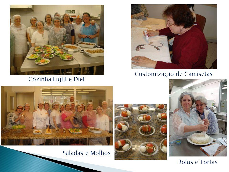 Cozinha Light e Diet Bolos e Tortas Saladas e Molhos Customização de Camisetas