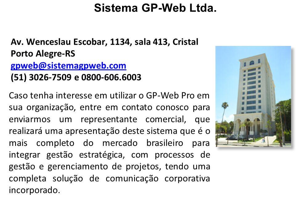 Caso tenha interesse em utilizar o GP-Web Pro em sua organização, entre em contato conosco para enviarmos um representante comercial, que realizará um