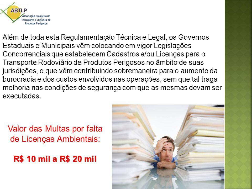 Além de toda esta Regulamentação Técnica e Legal, os Governos Estaduais e Municipais vêm colocando em vigor Legislações Concorrenciais que estabelecem