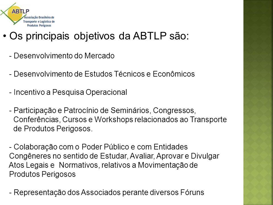 • Os principais objetivos da ABTLP são: - Desenvolvimento do Mercado - Desenvolvimento de Estudos Técnicos e Econômicos - Incentivo a Pesquisa Operaci