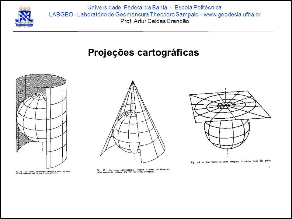 Projeções cartográficas Universidade Federal da Bahia - Escola Politécnica LABGEO - Laboratório de Geomensura Theodoro Sampaio – www.geodesia.ufba.br