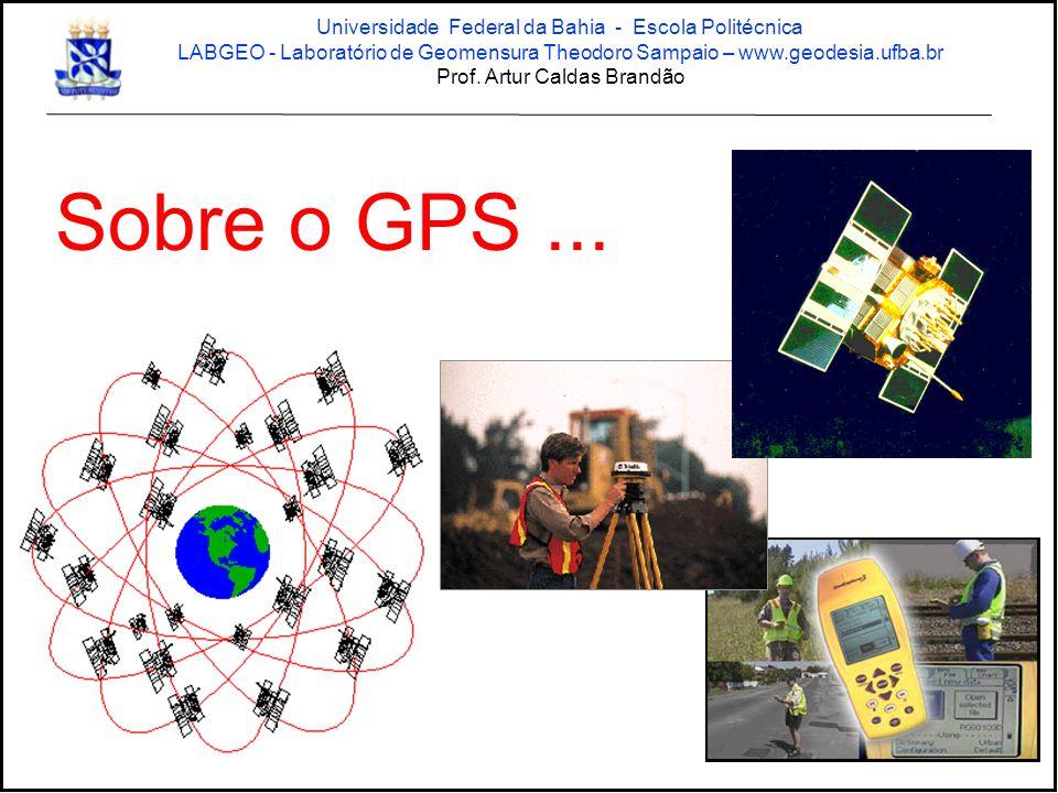 Sobre o GPS... Universidade Federal da Bahia - Escola Politécnica LABGEO - Laboratório de Geomensura Theodoro Sampaio – www.geodesia.ufba.br Prof. Art