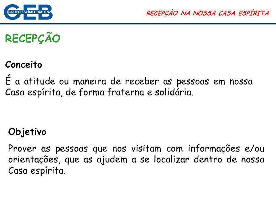 Núcleo Assistencial de Vila Brasilândia RECEPÇÃO NA NOSSA CASA ESPÍRITA  Palestras públicas.