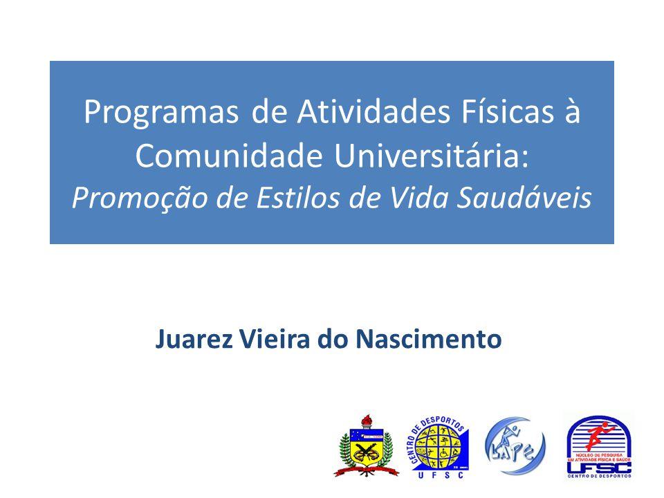 Programas de Atividades Físicas à Comunidade Universitária: Promoção de Estilos de Vida Saudáveis Juarez Vieira do Nascimento