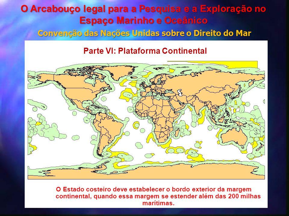 O Estado costeiro deve estabelecer o bordo exterior da margem continental, quando essa margem se estender além das 200 milhas marítimas. Parte VI: Pla