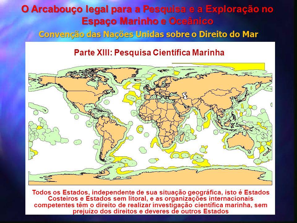 Todos os Estados, independente de sua situação geográfica, isto é Estados Costeiros e Estados sem litoral, e as organizações internacionais competente