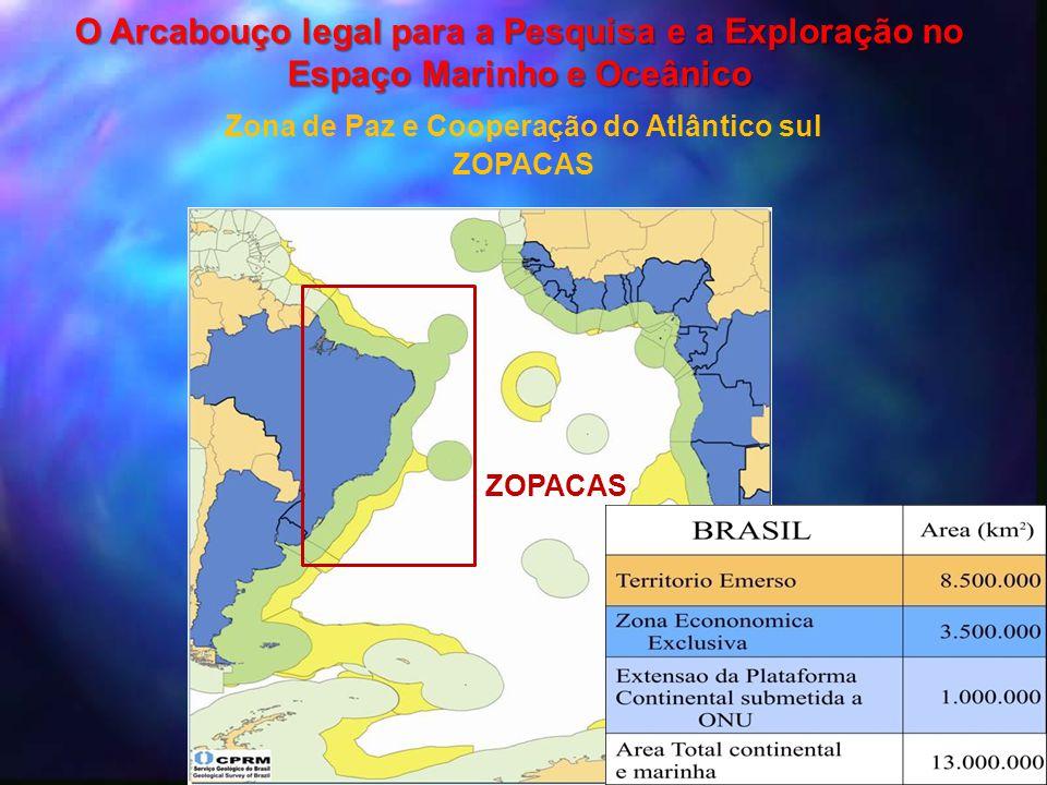 ZOPACAS Zona de Paz e Cooperação do Atlântico sul ZOPACAS O Arcabouço legal para a Pesquisa e a Exploração no Espaço Marinho e Oceânico
