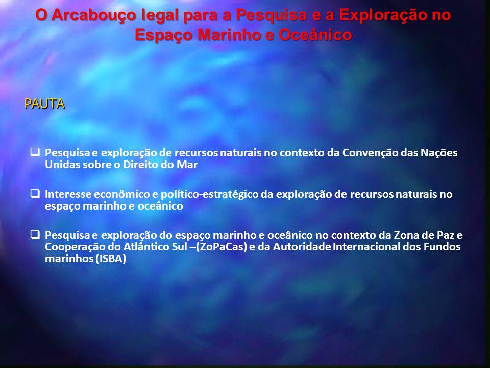  Pesquisa e exploração de recursos naturais no contexto da Convenção das Nações Unidas sobre o Direito do Mar  Interesse econômico e político-estrat