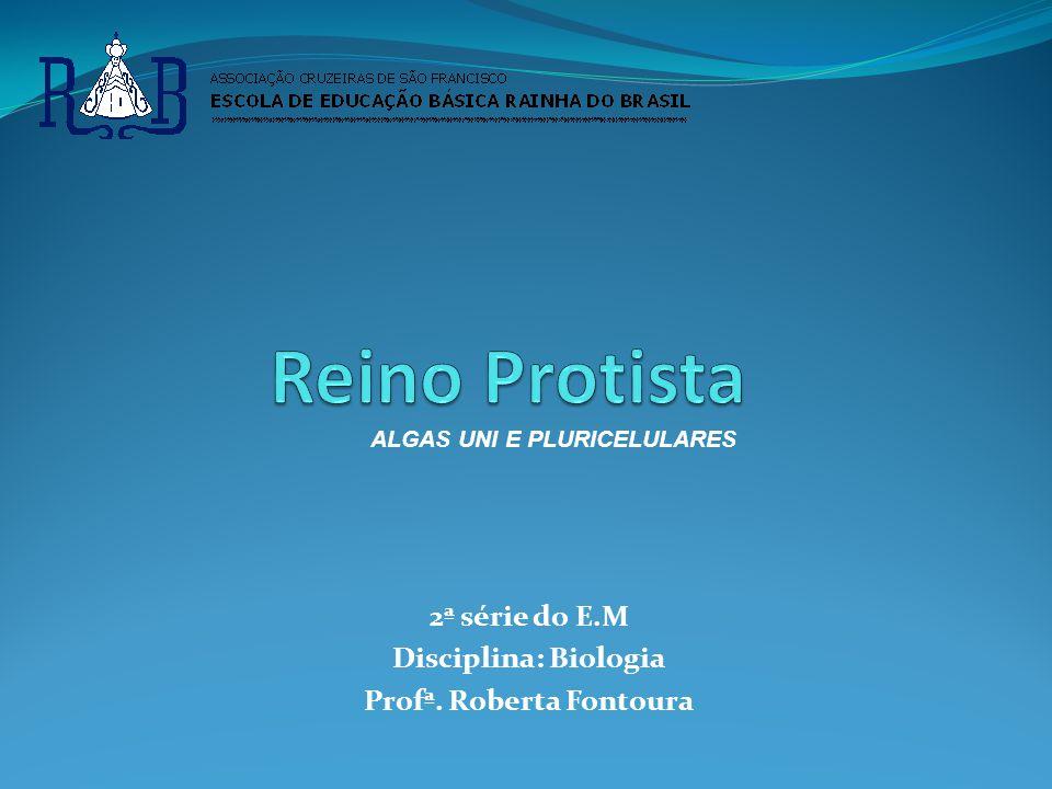 2ª série do E.M Disciplina: Biologia Profª. Roberta Fontoura ALGAS UNI E PLURICELULARES