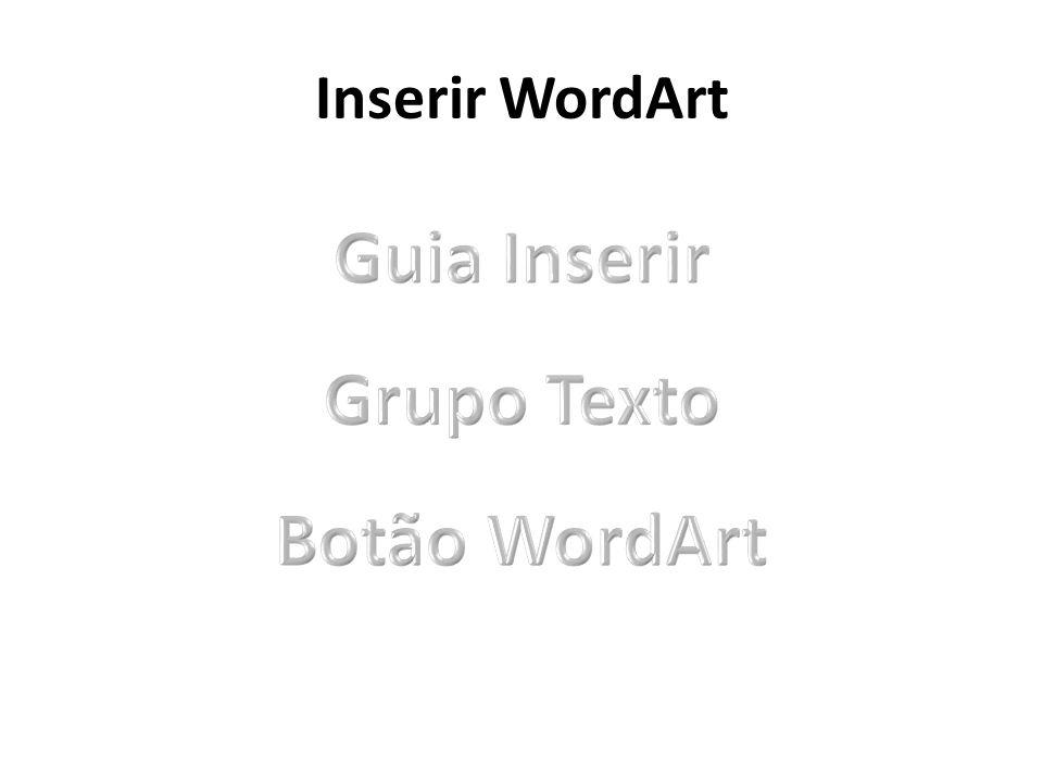 Inserir WordArt