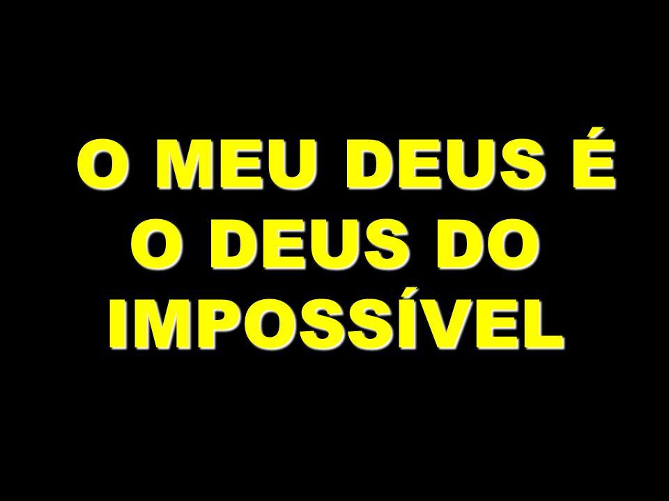 O MEU DEUS É O DEUS DO IMPOSSÍVEL O MEU DEUS É O DEUS DO IMPOSSÍVEL