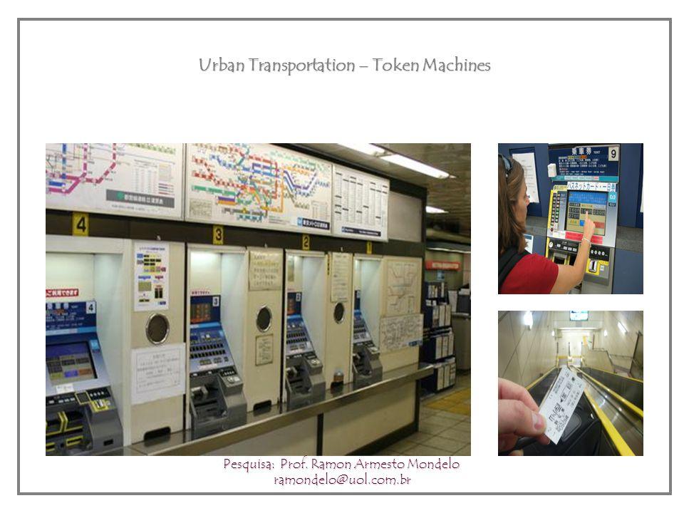 Urban Transportation – Token Machines Pesquisa: Prof. Ramon Armesto Mondelo ramondelo@uol.com.br