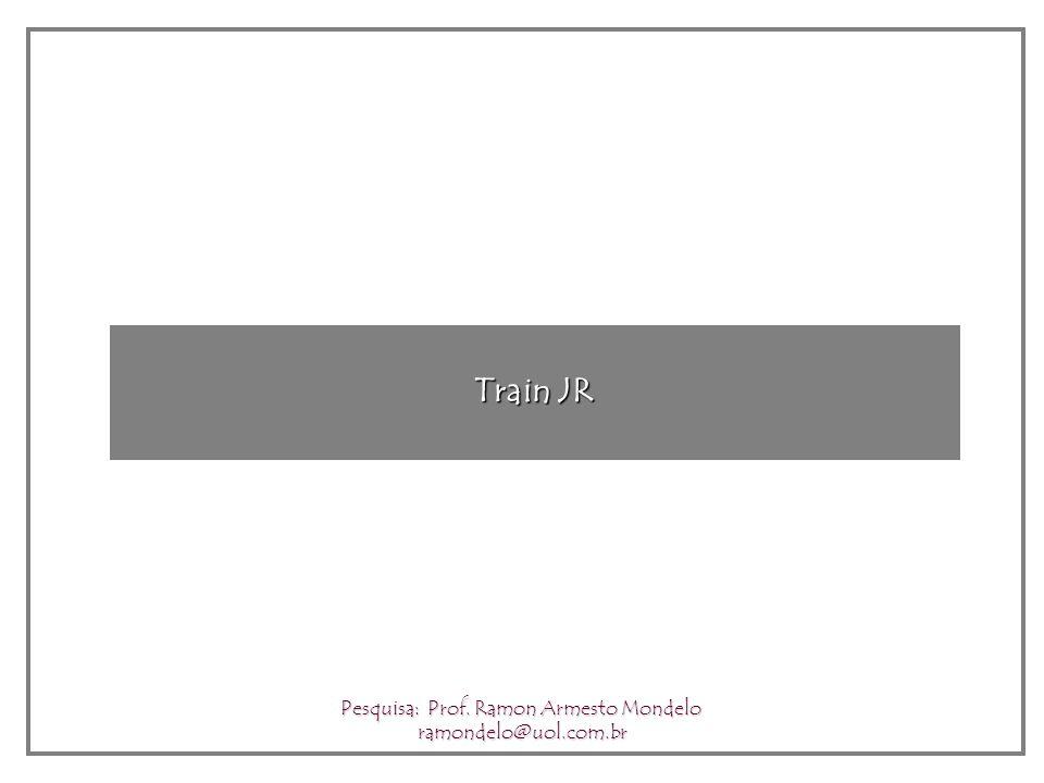 Train JR Pesquisa: Prof. Ramon Armesto Mondelo ramondelo@uol.com.br