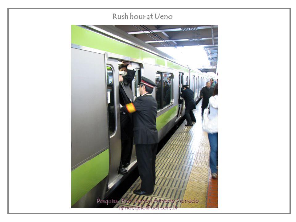 Rush hour at Ueno Pesquisa: Prof. Ramon Armesto Mondelo ramondelo@uol.com.br