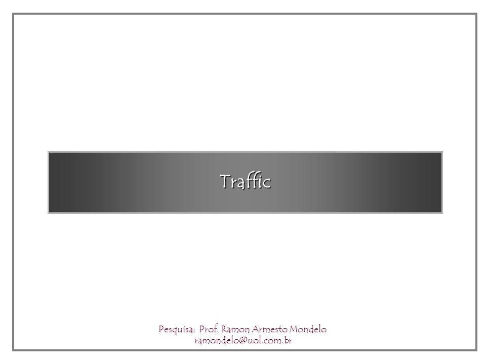 Urban Transportation – Subway Pesquisa: Prof. Ramon Armesto Mondelo ramondelo@uol.com.br