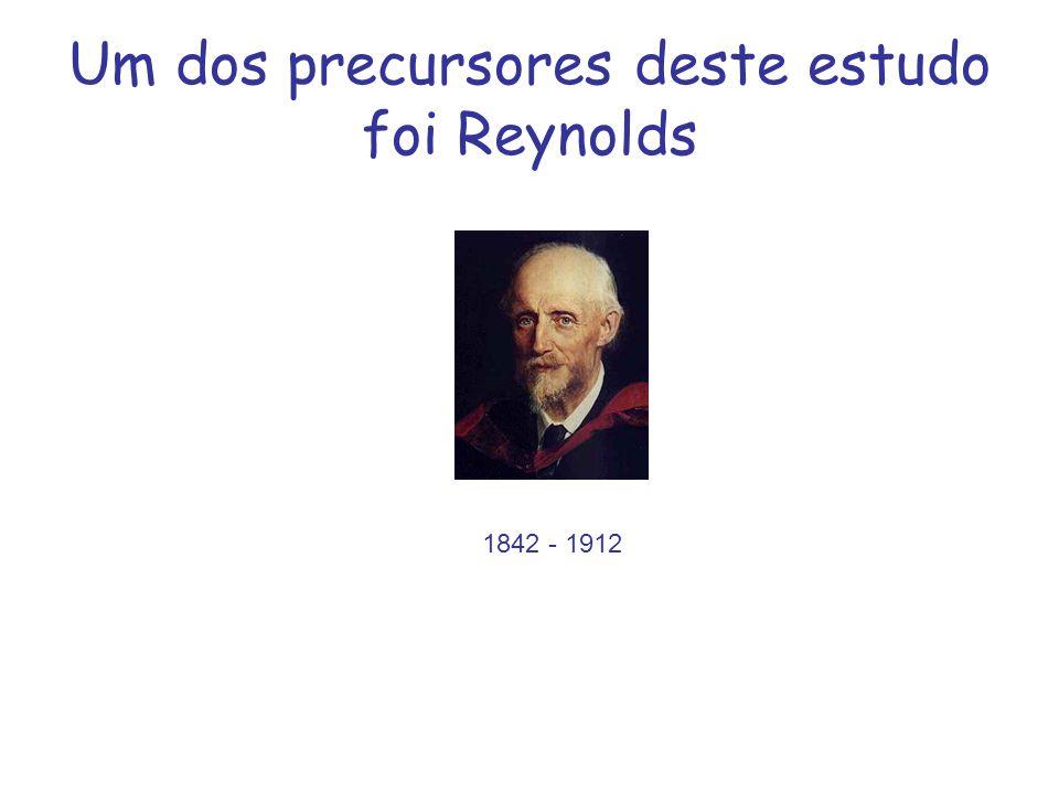 Um dos precursores deste estudo foi Reynolds 1842 - 1912