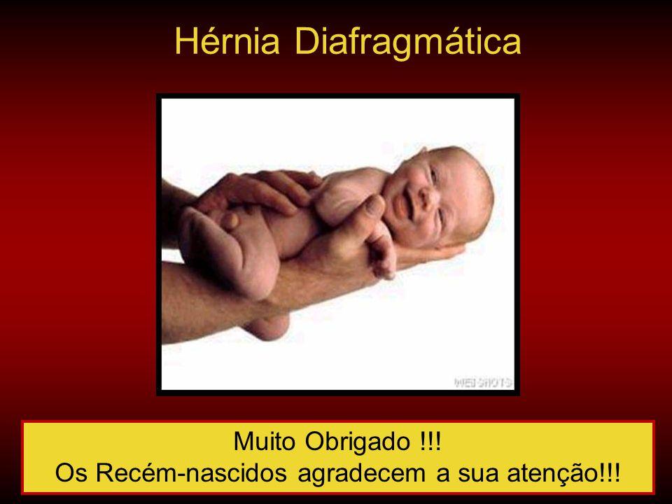 Muito Obrigado !!! Os Recém-nascidos agradecem a sua atenção!!! Hérnia Diafragmática