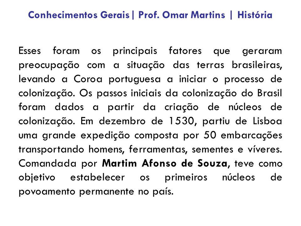 Esses foram os principais fatores que geraram preocupação com a situação das terras brasileiras, levando a Coroa portuguesa a iniciar o processo de co