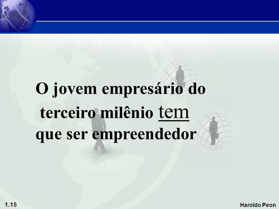 1.15 Haroldo Peon O jovem empresário do terceiro milênio tem que ser empreendedor