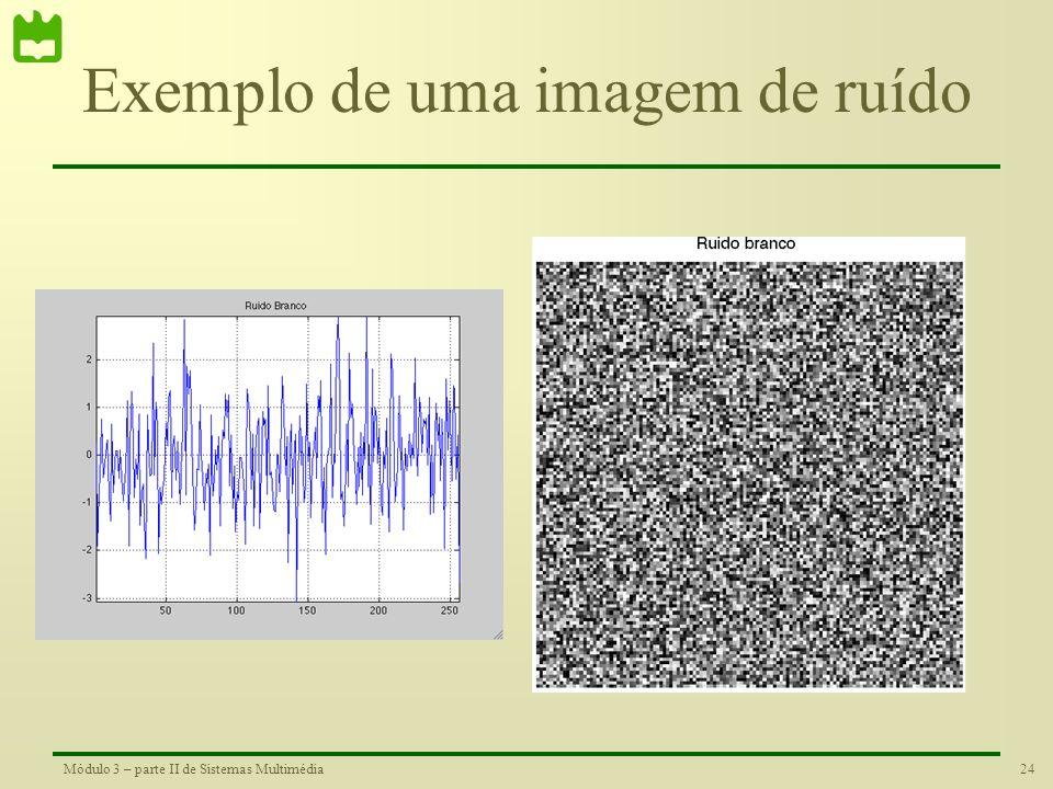 23Módulo 3 – parte II de Sistemas Multimédia Informação numa Imagem Intensidade do sinal na linha assinalada. Nas zonas mais claras a imagem tem valor