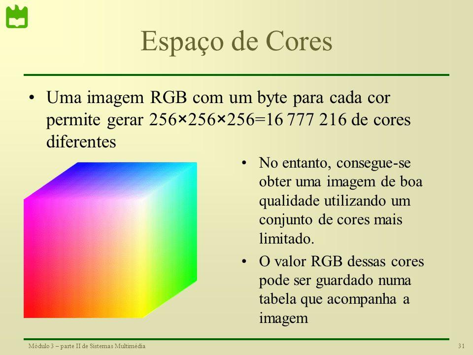 30Módulo 3 – parte II de Sistemas Multimédia Cor nas Televisões Fotografia do ecran CRT de uma telivisão. Na ampliação consegue-se distinguir claramen