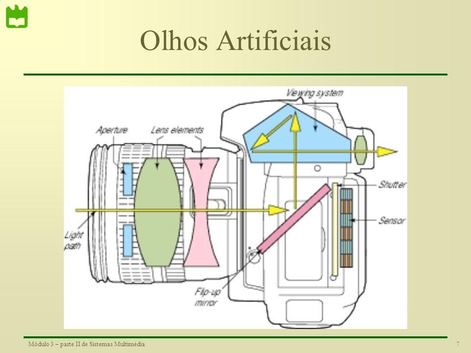 6Módulo 3 – parte II de Sistemas Multimédia Densidade de Sensores do Olho