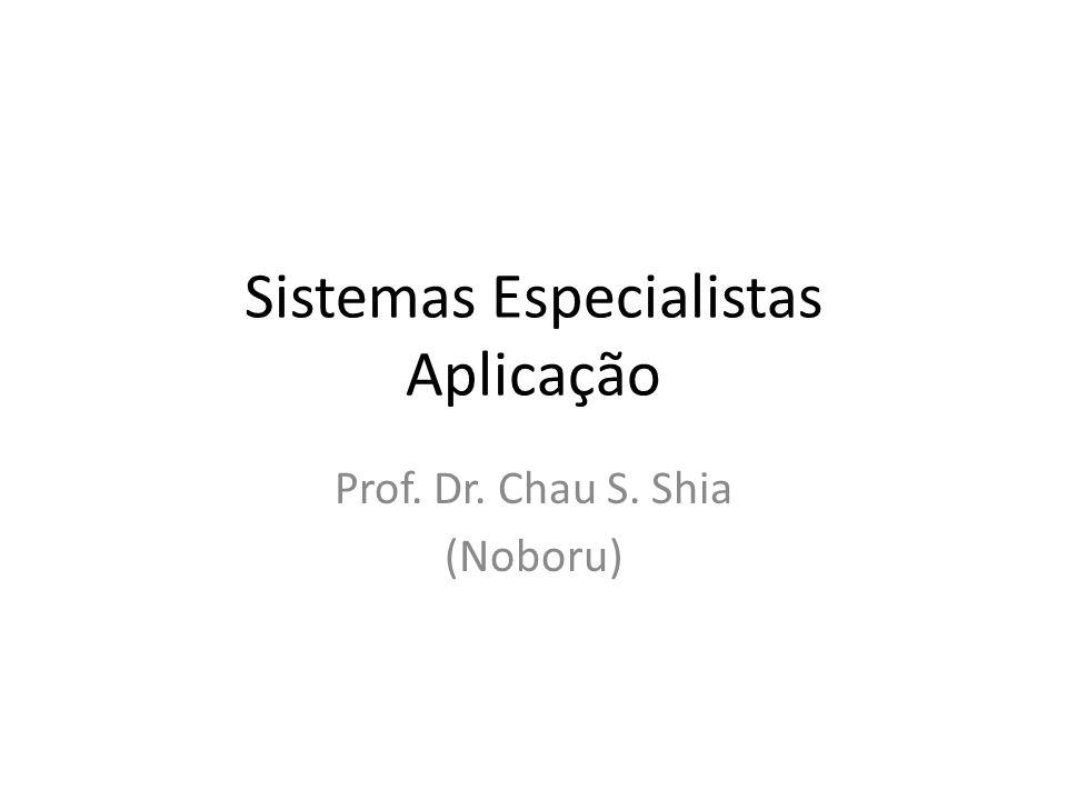 Sistemas Especialistas Aplicação Prof. Dr. Chau S. Shia (Noboru)