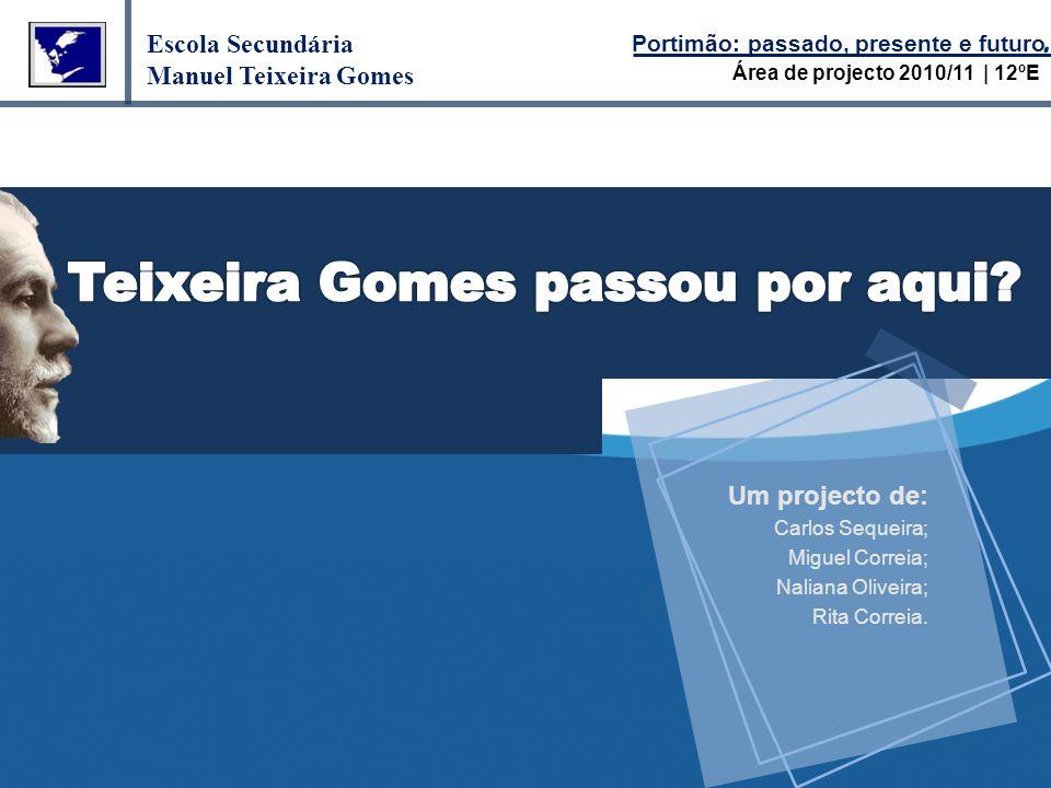 Um projecto de: Carlos Sequeira; Miguel Correia; Naliana Oliveira; Rita Correia.