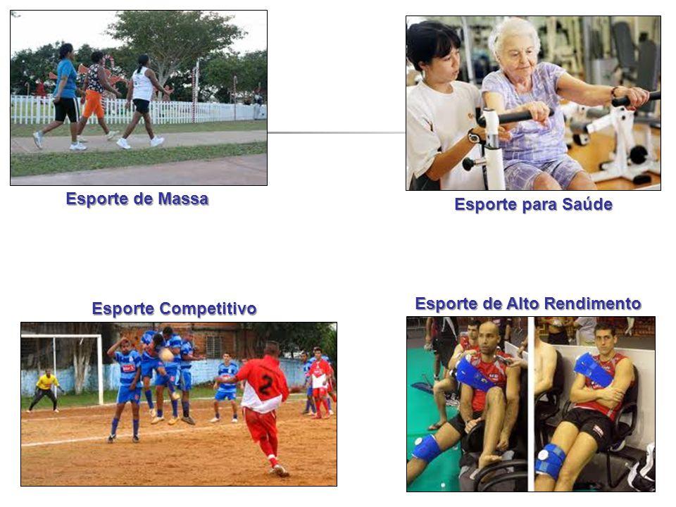 Esporte de Massa Esporte para Saúde Esporte Competitivo Esporte de Alto Rendimento