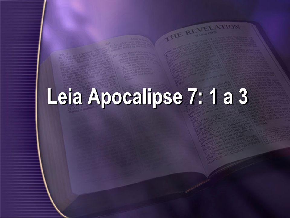 Leia Apocalipse 7: 1 a 3