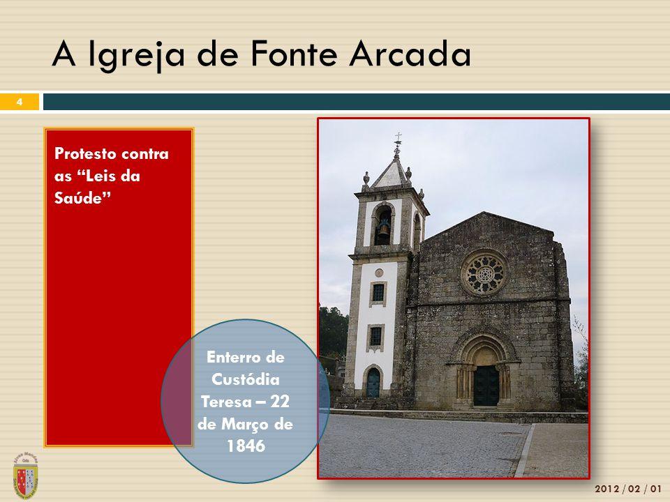 """A Igreja de Fonte Arcada 2012 / 02 / 01 4 Protesto contra as """"Leis da Saúde"""" Enterro de Custódia Teresa – 22 de Março de 1846"""