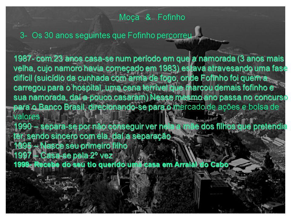 Moça & Fofinho 3- Os 30 anos seguintes que Fofinho percorreu 1983- Começou com o vício do tabaco (fumava 2 maços de Marlboro por dia 1983- Começou com o vício do tabaco (fumava 2 maços de Marlboro por dia)