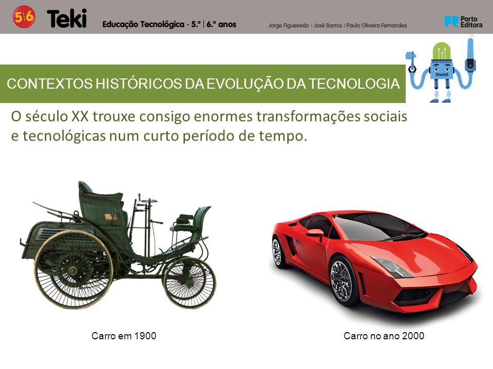 O século XX trouxe consigo enormes transformações sociais e tecnológicas num curto período de tempo. CONTEXTOS HISTÓRICOS DA EVOLUÇÃO DA TECNOLOGIA Ca